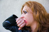 Abused woman — Stock Photo