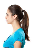 Brunette with ponytail — Stock Photo