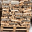 Stack of firewood — 图库照片
