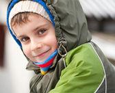 Cute kid outdoor — Stock Photo