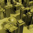 Royalty-Free Stock Photo: 3d render of a city model