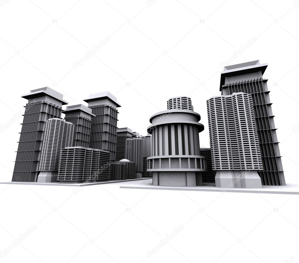 3d render of a city model  Stock Photo #2170228