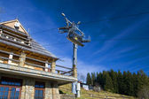 Chair-lift in Tatra Mountains — Stok fotoğraf