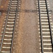 View of a railroad track - Stock Photo