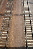 View of a railroad track — Stock Photo