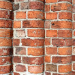 Red brick wall - corner — Stock Photo