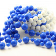 Blue beads isolated — Foto Stock #2011663