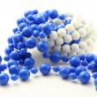 Foto Stock: Blue beads isolated