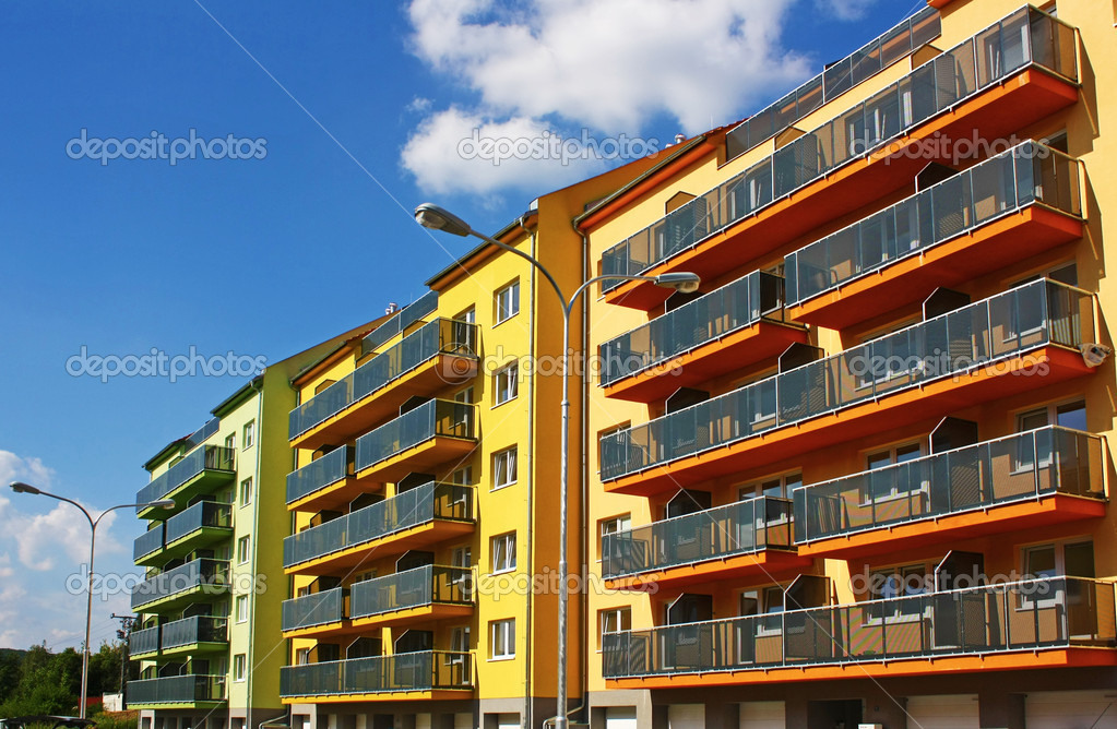 Brand new apartments for sale in a new residential area. — Stock Photo #2012657