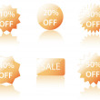 Vector Sale Icons. — Vettoriali Stock