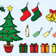Royalty-Free Stock Imagen vectorial: Christmas Set