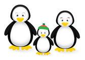 Familia de pingüinos — Vector de stock