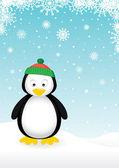 Lindo pingüino — Vector de stock