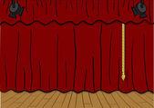 剧院舞台 — 图库矢量图片