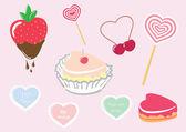 день святого валентина конфеты набор — Cтоковый вектор