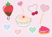Valentine's Day Candy Set — Stockvector
