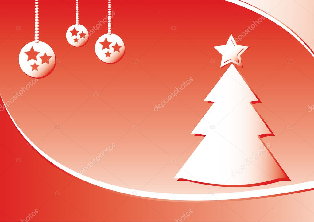 Simple vector christmas background — Stock Vector #2047070
