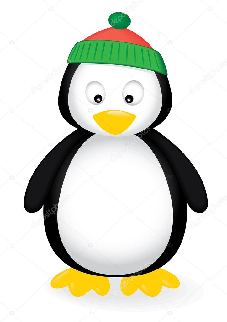 Vector illustration of a cute penguin. — Stock Vector #2047136