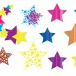 Colorful stars — Stock Vector