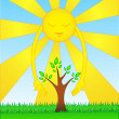 Sun loves nature — Stockvectorbeeld