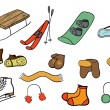 Winter stuff collection - Imagen vectorial