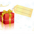Present and tag - Stock Vector