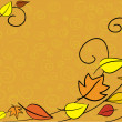 Autumn leaves background — Stock vektor