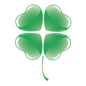 Vector Four Leaf Clover — Vector de stock