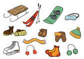 冬の原料のコレクション — ストックベクタ
