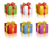 Colorful presents — Vettoriale Stock