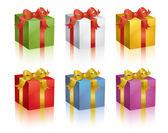 Renkli hediyeler — Stok Vektör