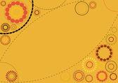 Pomarańczowy tło kwiatowy — Wektor stockowy