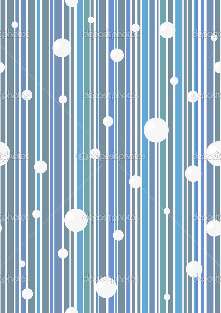 Seamless blue vector wallpaper with circles. Easy to edit.  Stock Vector #2104824