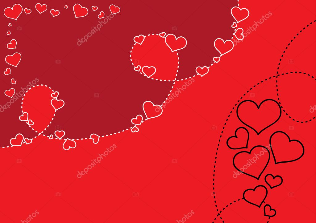 Vector valentine's day background. — Stock Vector #2105843