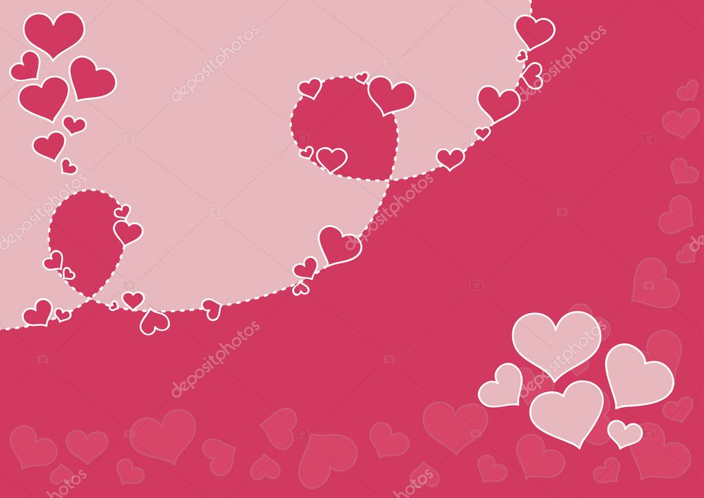 Vector valentine's day background.  Stock Vector #2105864