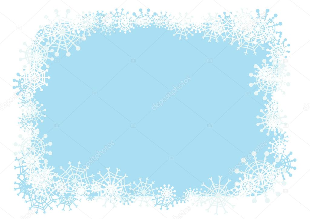Vector winter frame for your season's design.  Stock Vector #2106030