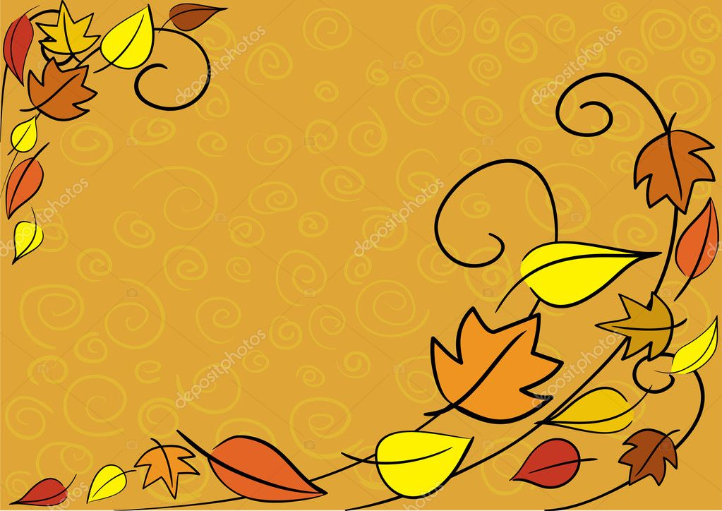 Vector autumn leaves background. Easy to edit. — Stock Vector #2108003