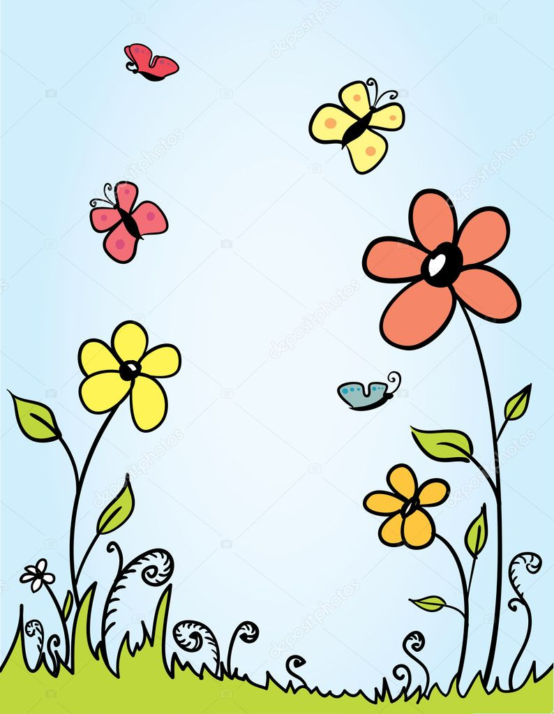 Vector Spring background with room for your text — Stock Vector #2164681
