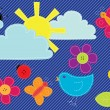 Vector sewed spring buttons and elements - Imagens vectoriais em stock