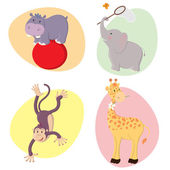 Cute Animals — Vector de stock