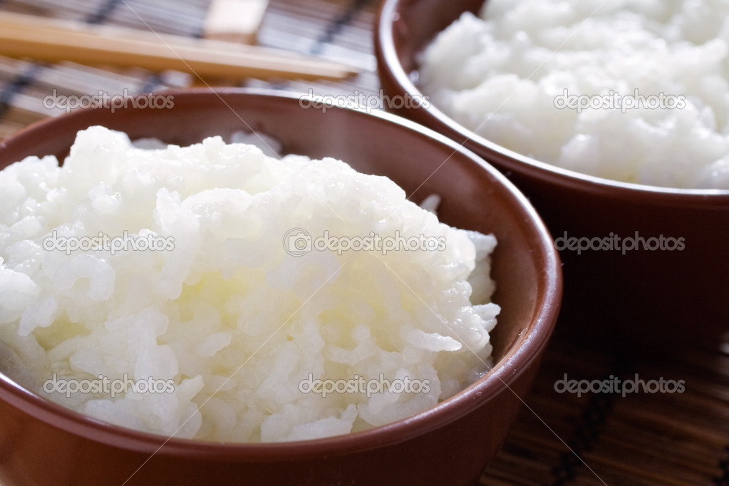 Delicious and healthy steamed white thai rice.  Stock Photo #2482822