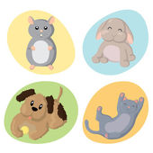 Cute Pets — Vector de stock