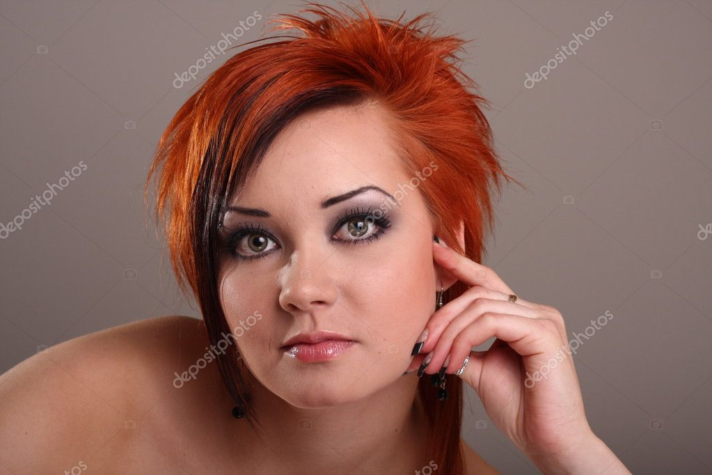 Portrait of a young fashion model in the studio — Stock Photo #2009438