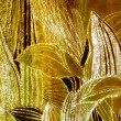 Silky golden leaves - Stock Photo