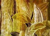 Silky golden leaves — Stock Photo