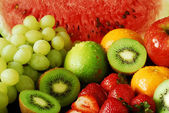 Colorful fresh group of fruits — Stock fotografie