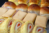 Food close-up: Appetizers — Stock Photo