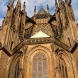 Gothic church facade - Stock Photo