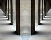 Columns vanishing points — Stock Photo