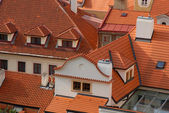 Red roofs — Foto Stock
